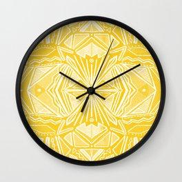 Solana, fall golden mandala Wall Clock