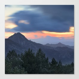 Dream sunset. At the mountains... Canvas Print
