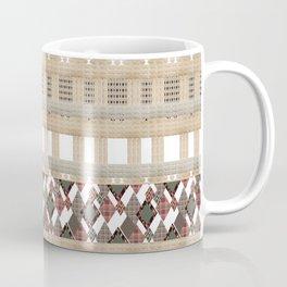Boho . Beige woven textiles . Coffee Mug