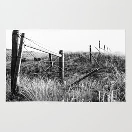 Black and White Fence Rug