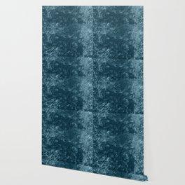 Peacock teal velvet Wallpaper