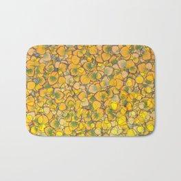 Real Aspen Leaves Ombre Bath Mat
