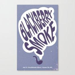 Blackberry Smoke Gig Poster Canvas Print
