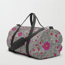 William Morris Marigold, Gray / Grey, and Fuchsia Duffle Bag