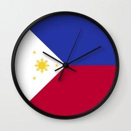 Philippines flag emblem Wall Clock