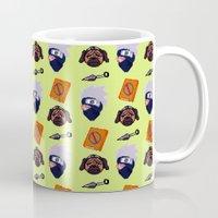 kakashi Mugs featuring Kakashi Pattern by Palloma