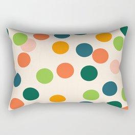 Polka Dots Everywhere Rectangular Pillow