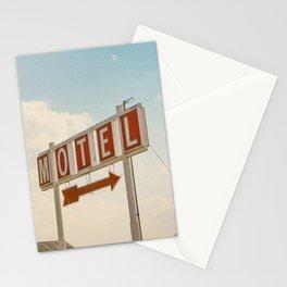 ABANDONED DESERT MOTEL Stationery Cards