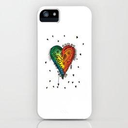 Watercolor Heart Love iPhone Case