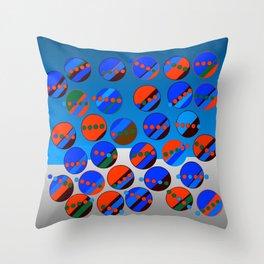 Bubbes Blues Throw Pillow
