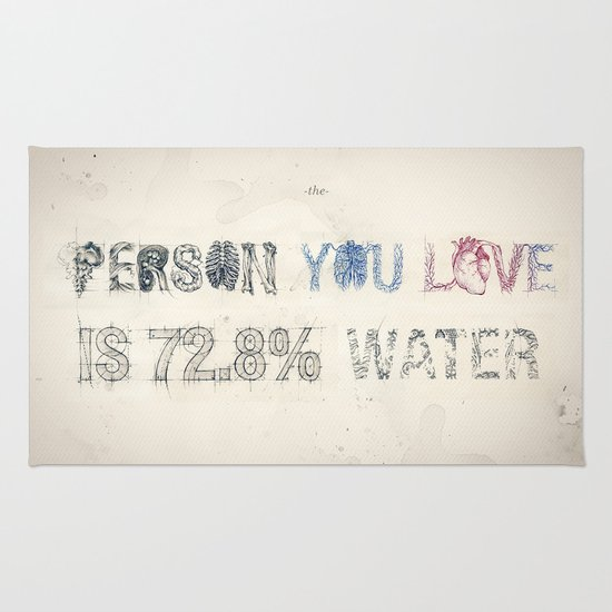 The Person You Love Is 72.8% Water Rug