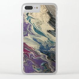 purple waves Clear iPhone Case