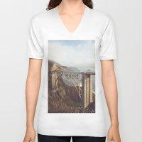 big sur V-neck T-shirts featuring Big Sur by Chris Mongeau