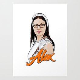Queen Alex Vause Art Print