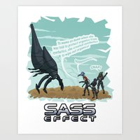 mass effect Art Prints featuring Mass Effect - Sass Effect by calicoJill