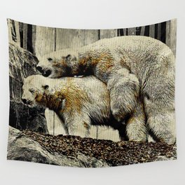 Let's make a polar bear baby Wall Tapestry