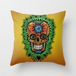 mexican skulls wanna-be (2014) Throw Pillow