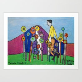 Walking through the Dreaming Fields by Machale O'Neill Art Print
