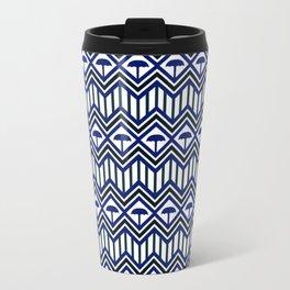 Blue Umbrella Geometry Travel Mug