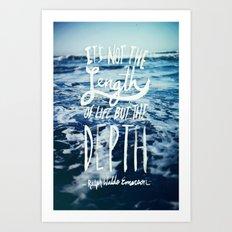 Depth x Ocean Art Print