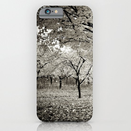 Wind and Leaves - B&W iPhone & iPod Case