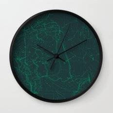 Contour Mapping v.1 Wall Clock