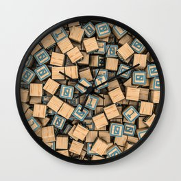 Binary blocks Wall Clock