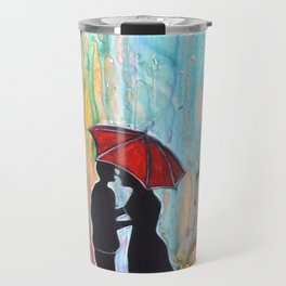 A Rainy Date romantic painting giftart Travel Mug