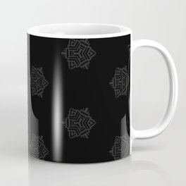 Snowflake I Black Coffee Mug