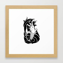 Mermaid BW Framed Art Print