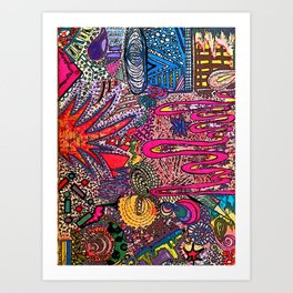 Bright [Like Neon Love] Art Print