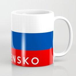slovakia country flag Slovensko name text Coffee Mug