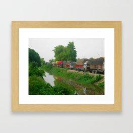 Agra Fort Caravan Framed Art Print