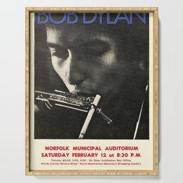 Vintage 1966 Bob Dylan Norfolk Virginia Concert Poster Serving Tray