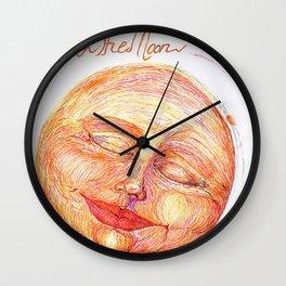 how high the moon Wall Clock