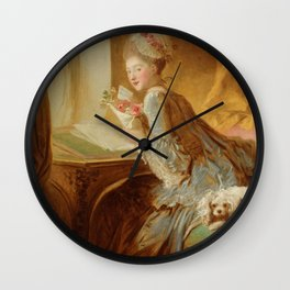 "Jean Honoré Fragonard (1732–1806) ""The Love Letter"" Wall Clock"