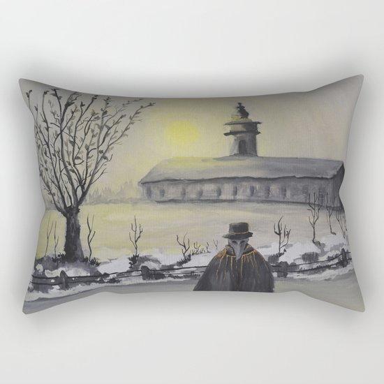 Track 6: Dark winter Rectangular Pillow