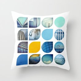 Cold Comfort Collage — The Blues Throw Pillow