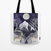 guardians Tote Bags featuring Guardians by Yoly B. / Faythsrequiem