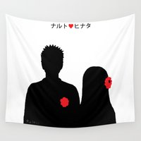 naruto Wall Tapestries featuring He ♥ She by RaJess