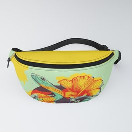 Snake and flowers Fanny Pack