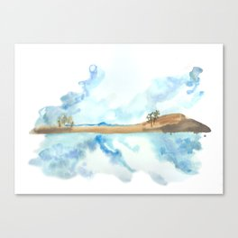 watercolor landscape // arizona, patagonia lake Canvas Print