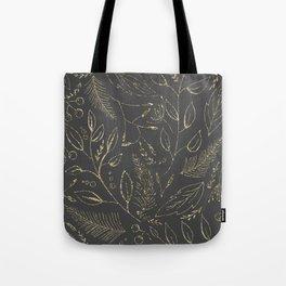 Holiday grey and gold Tote Bag