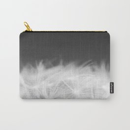 Dandelion Blowball Closeup Black and White #decor #society6 #buyart Carry-All Pouch