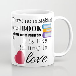 No mistaking a REAL book! Coffee Mug