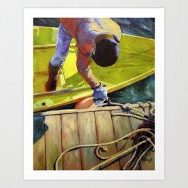 Tying Up Art Print