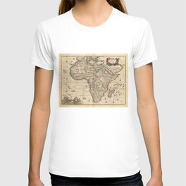 Vintage Map of Africa (1689) T-shirt
