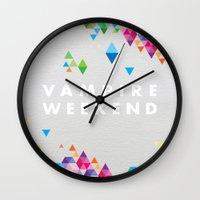 vampire weekend Wall Clocks featuring Vampire Weekend  2 by alboradas