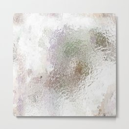 Frosted Marble Metal Print