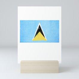 Saint Lucia Flag design | Saint Lucian design Mini Art Print